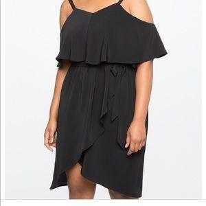 Eloquii 14 cold shoulder versatile crepe dress